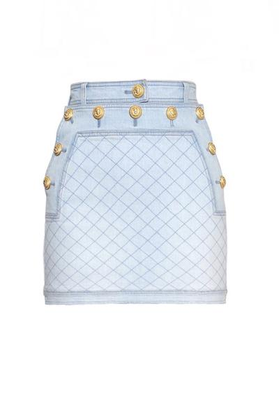 DENIM BUTTONED SKIRT