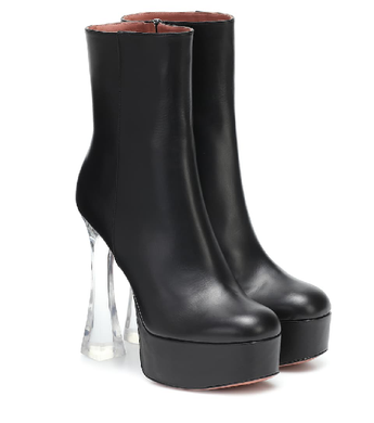 AMINA MUADDI Duaglass leather ankle boots