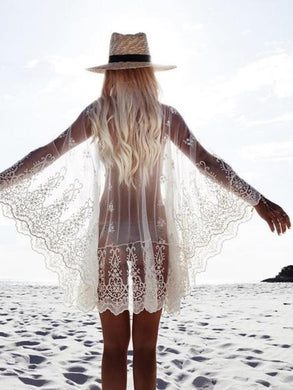 Lace Emboridery Cover-Up Top