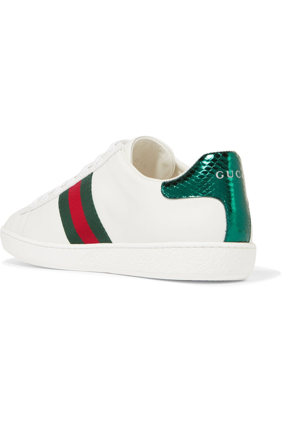GUCCI-Ace Watersnake-trimmed