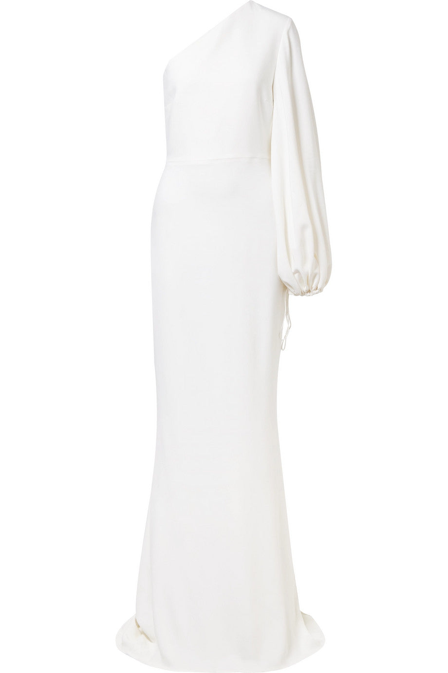STELLA MCCARTNEY One-shoulder stretch-cady gown