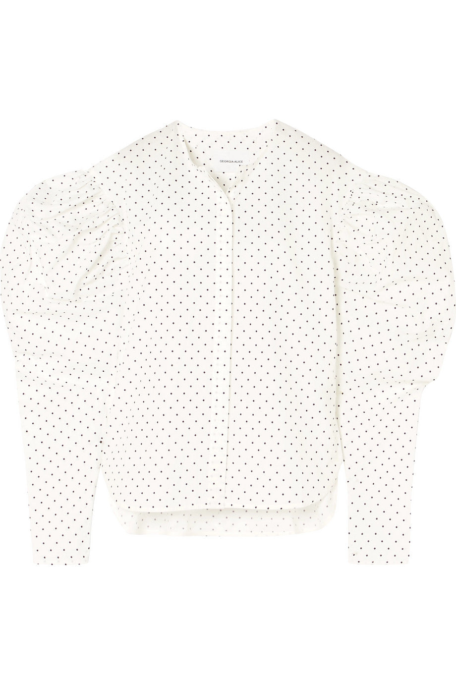 GEORGIA ALICE-Polka-dot cotton-poplin shirt