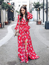 Red Bohemia Printed Belted Maxi Dress