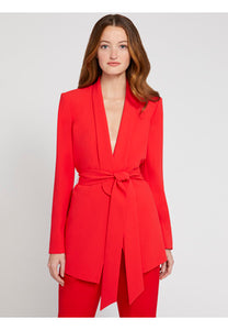Alice+Olivia-DENNY STRONG SHOULDER BLAZER