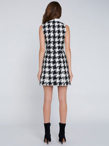Alice+Olivia+ELLIS HOUNDSTOOTH MINI DRESS