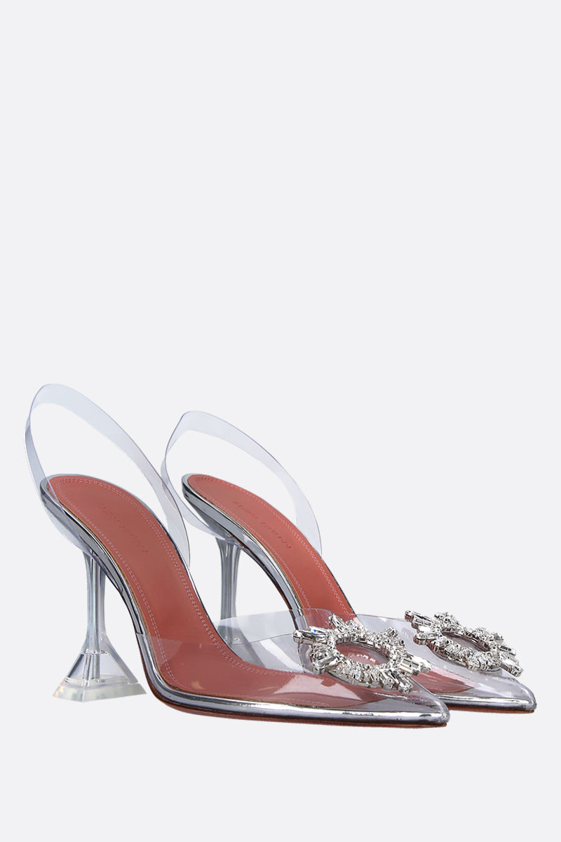 AMINA MUADDI-BEGUM SLINGBACKS IN CLEAR VINYL