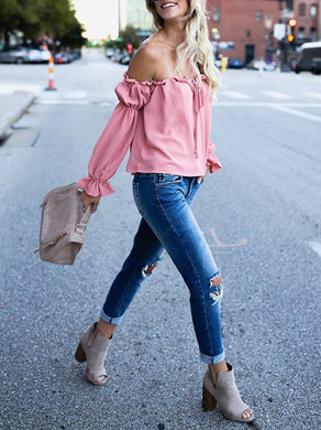 Off -The Shoulder Blouse- Elegant Classy Top