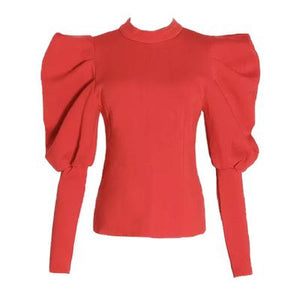 ELLURECOUTURE-PUFF SLEEVE TOP