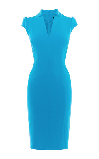 KAREN MILLEN- Puff-Sleeve Sheath Dress