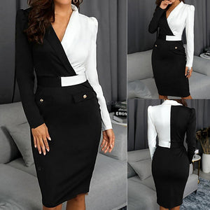 Elegant  color block dress