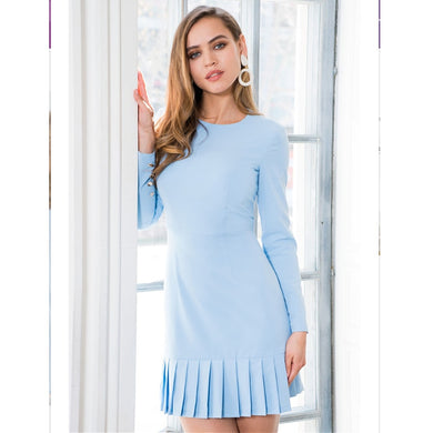 Casual yet elegant Ruffles Long Sleeve Solid Midi Dress