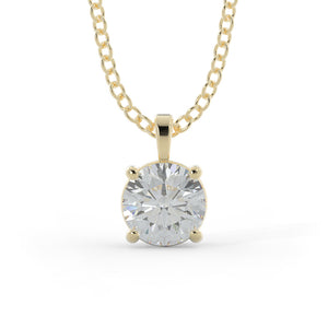14k Gold 1 1/4ct Lab-Grown Diamond Solitaire Necklace