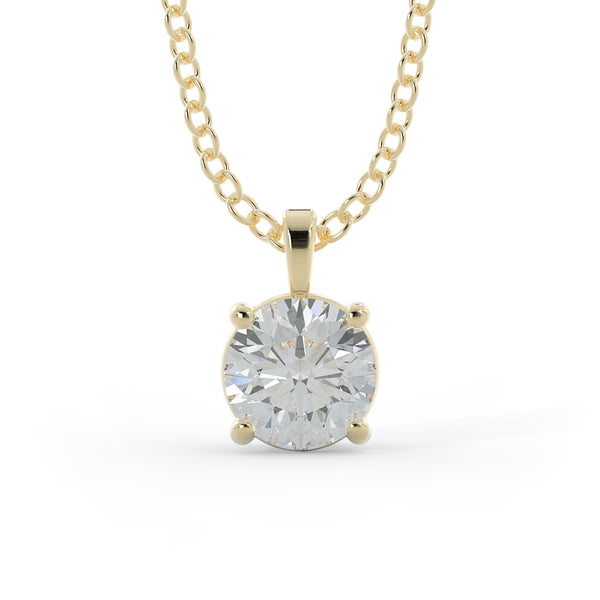14k Gold 1/2ct Lab-Grown Diamond Solitaire Necklace