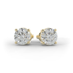 14k Gold 1/2ct TW Lab-Grown Diamond Stud Earrings