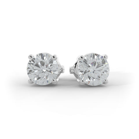 14k Gold 4ct TW Lab-Grown Diamond Stud Earrings