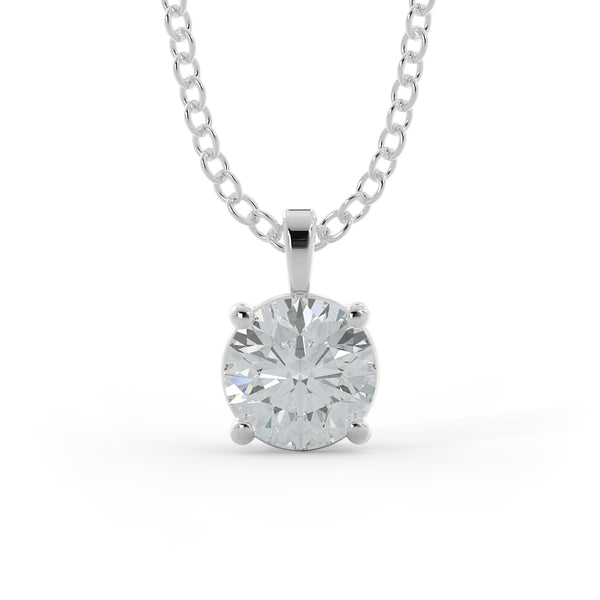 14k Gold 1ct Lab-Grown Diamond Solitaire Necklace