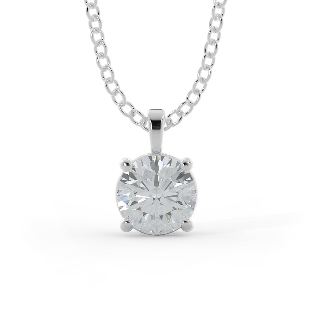 14k Gold 3/4ct Lab-Grown Diamond Solitaire Necklace