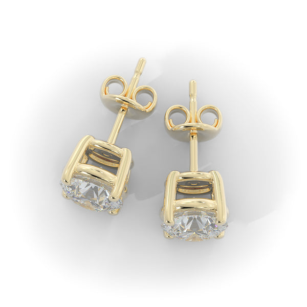 14k Gold 2 1/2ct TW Lab-Grown Diamond Stud Earrings