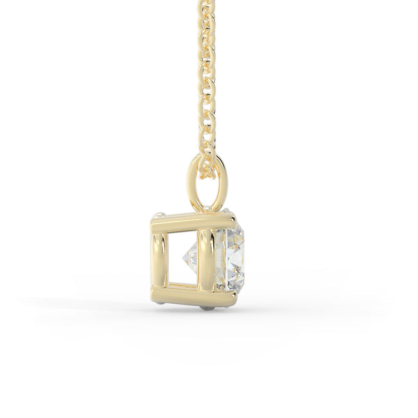 14k Gold 2ct Lab-Grown Diamond Solitaire Necklace
