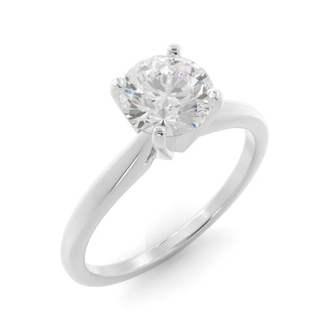 14k Gold 2ct Lab-Grown Diamond Solitaire Engagement Ring