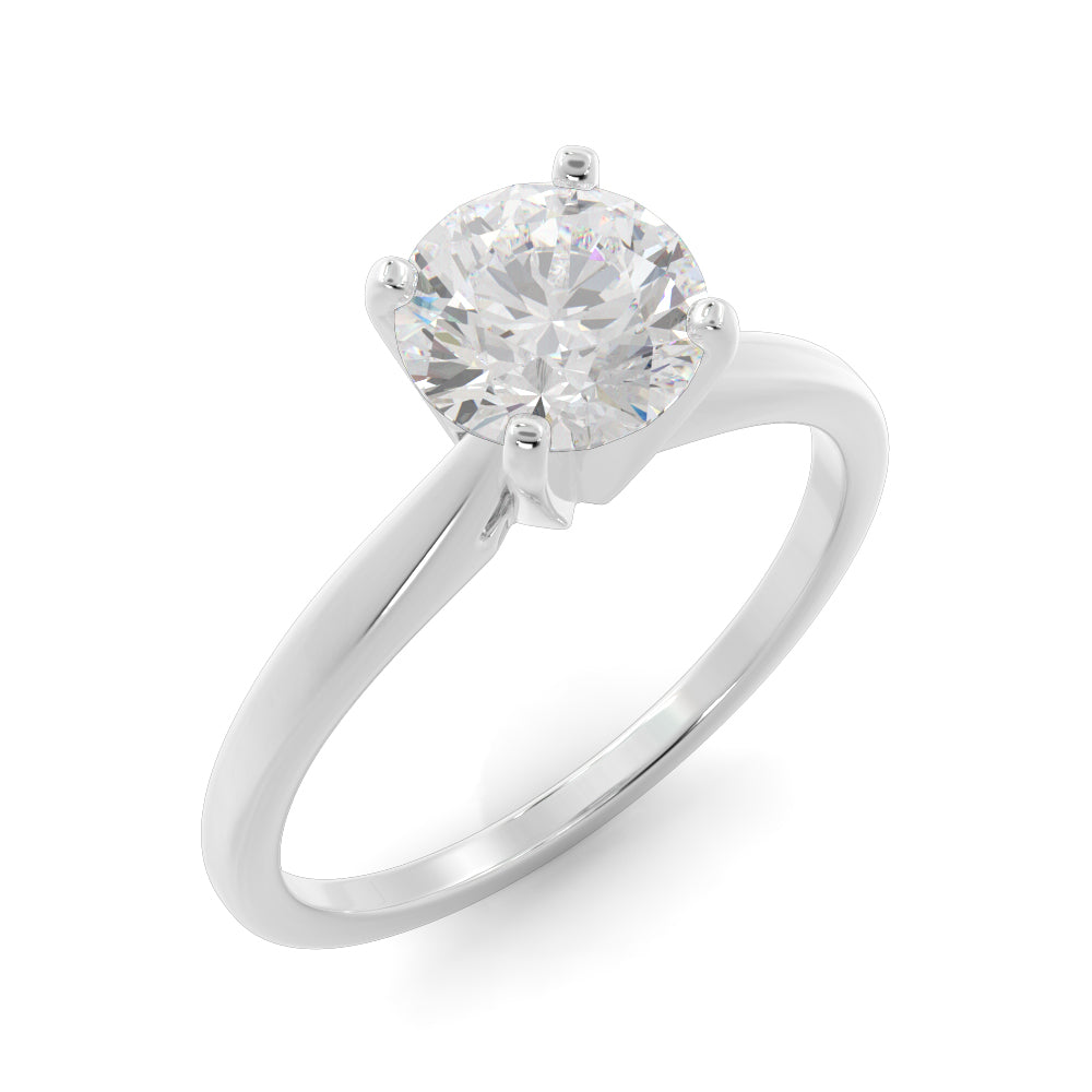 14k Gold 1 1/2ct Lab-Grown Diamond Solitaire Engagement Ring