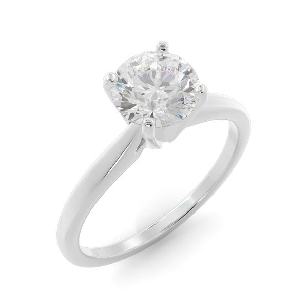 14k Gold 1 1/4ct Lab-Grown Diamond Solitaire Engagement Ring