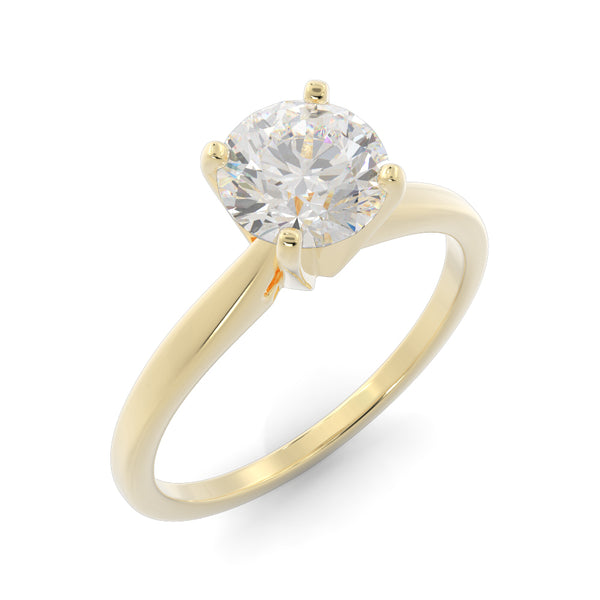14k Gold 1ct Lab-Grown Diamond Solitaire Engagement Ring