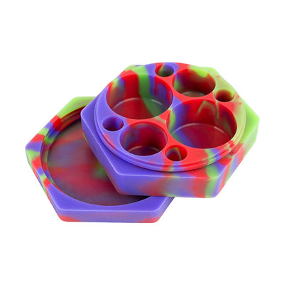 Multi-Compartment Hexagon Silicone Concentrate Container