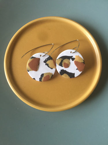 Classic Animal Print Large Nala Earrings