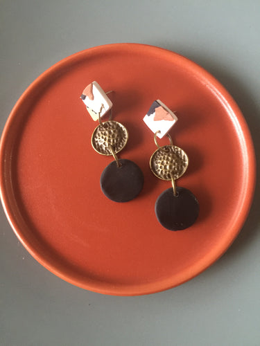 Classic Animal Print, Black and Brass Lulu Earrings