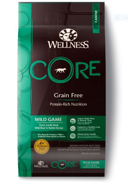 Dog Grain-Free Dry Food: Wild Game- CORE Recipe series by Wellness