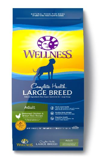 Large breed (audlt) deboned Chicken & Brown Rice - Complete Health series by Wellness