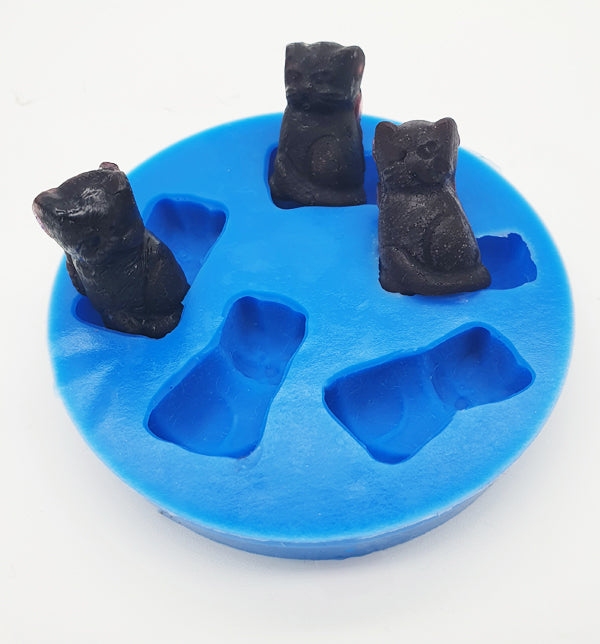 Silicone Mould- Lolly Black Cats