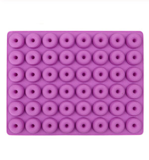 Silicone Mould- 48 tiny donuts/cereal - Sud Off! Soaps and Sundries