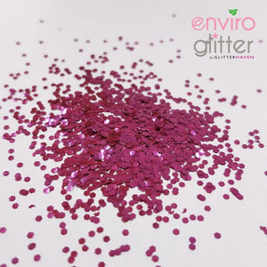 Glitter Haven - Fuchsia Rose 1mm Biodegradable Glitter - Sud Off! Soaps and Sundries