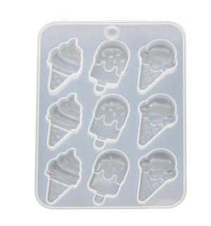 Silicone Mould- Cartoon Ice creams Set