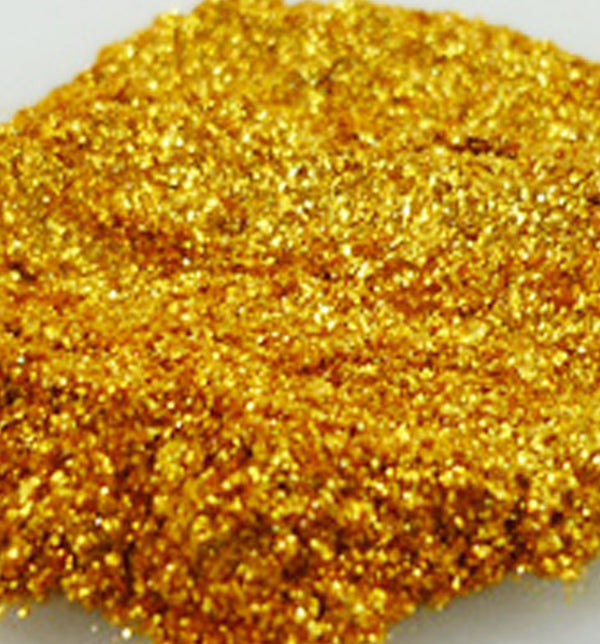Glitter Mica Millionaire Gold (Synthetic Fluorphlogopite) - Sud Off! Soaps and Sundries
