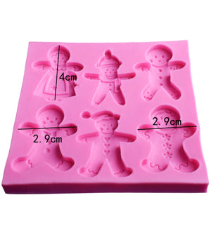 Silicone Mould- Gingerbread Embed Shapes