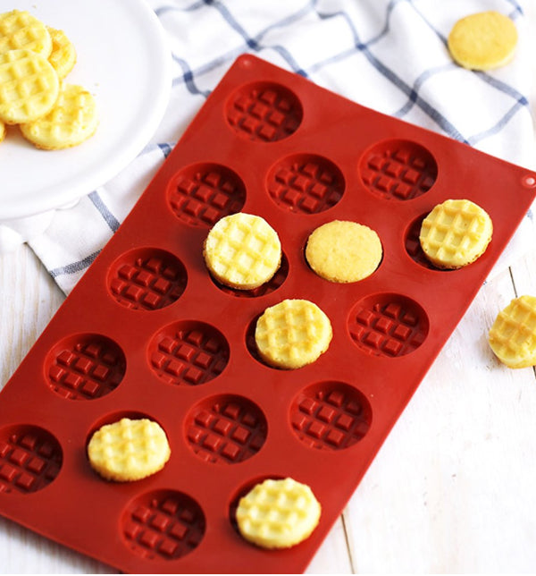 Silicone Mould- Mini Waffles - Sud Off! Soaps and Sundries