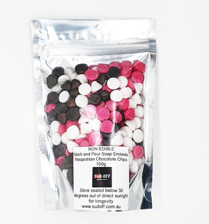 Melt and Pour Soap Embeds - Neapolitan Chocolate Chips