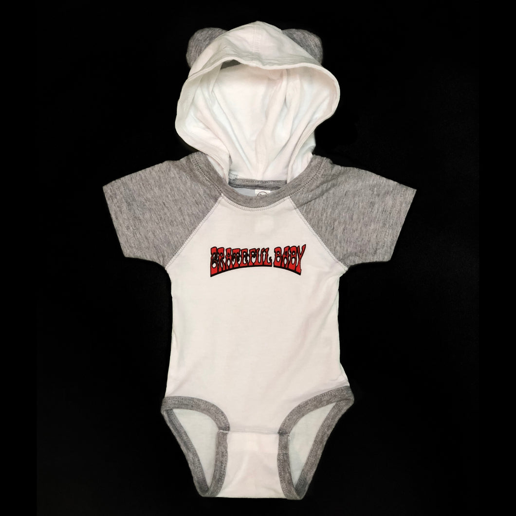 Hooded Grateful Baby Onesie