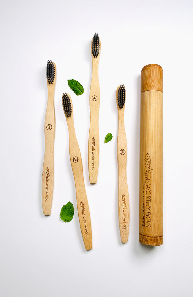 Worthy Picks Bamboo Toothbrush Set