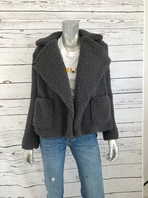 Grey Teddy Bear Jacket
