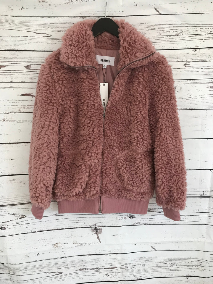 Pink Fuzzy Teddy Bear Jacket