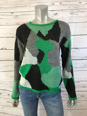Green Urban Camouflage Sweater
