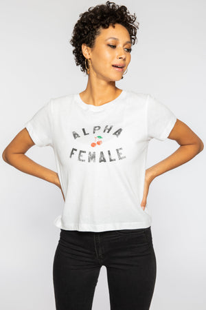 Alpha Female White Graphic Tshirt