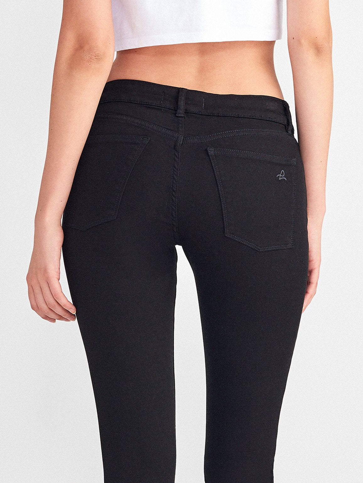 DL1961 Florence Mid Rise Skinny Hail