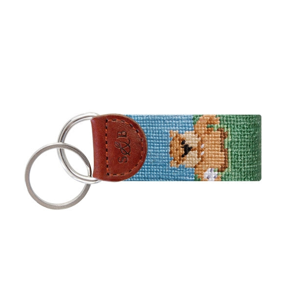 Smathers and Branson Golf Gopher Needlepoint Key Fob