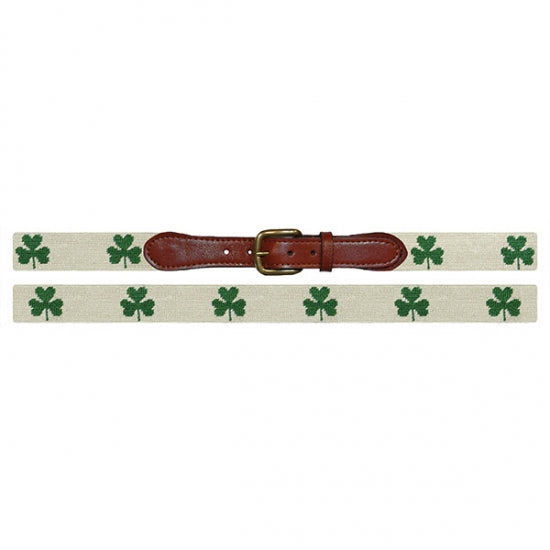 Smathers and Branson Shamrock Needlepoint Belt