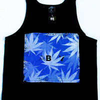 ABUV - Purple Box Black Tank Top